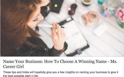 Article: Name your business – How to choose a winning name